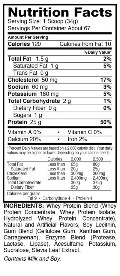 Elite5Van Dymatize Nutrition Information Elite Whey 5lb Gourmet Vanilla