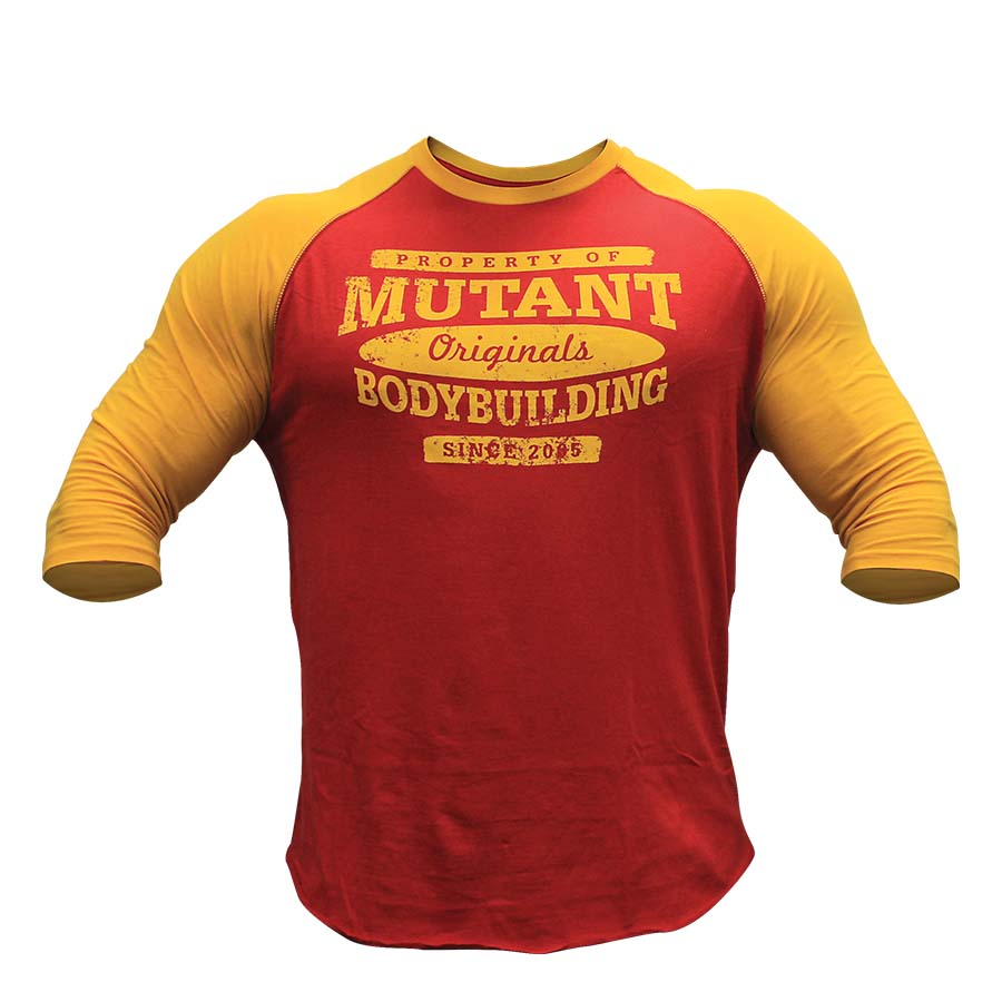 5e1bc07d Mutant T-Shirt – Baseball (Red/Yellow) | Superior Supplements