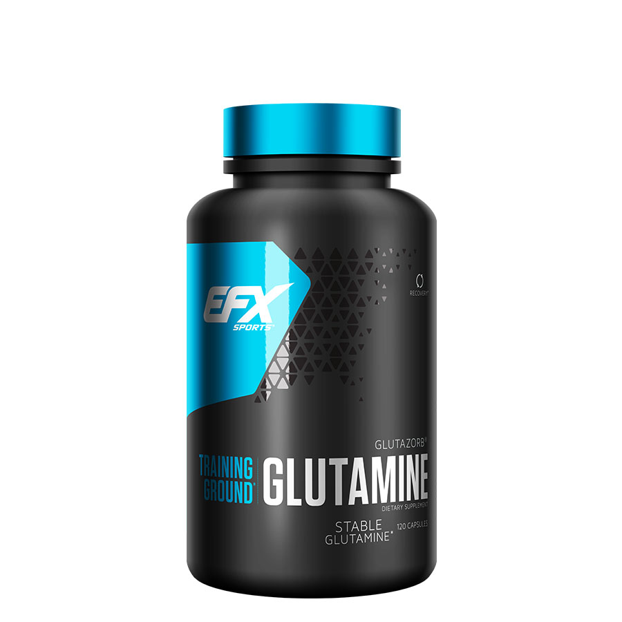 EFX Sports Training Ground Glutamine (60 serve) 120 Capsules