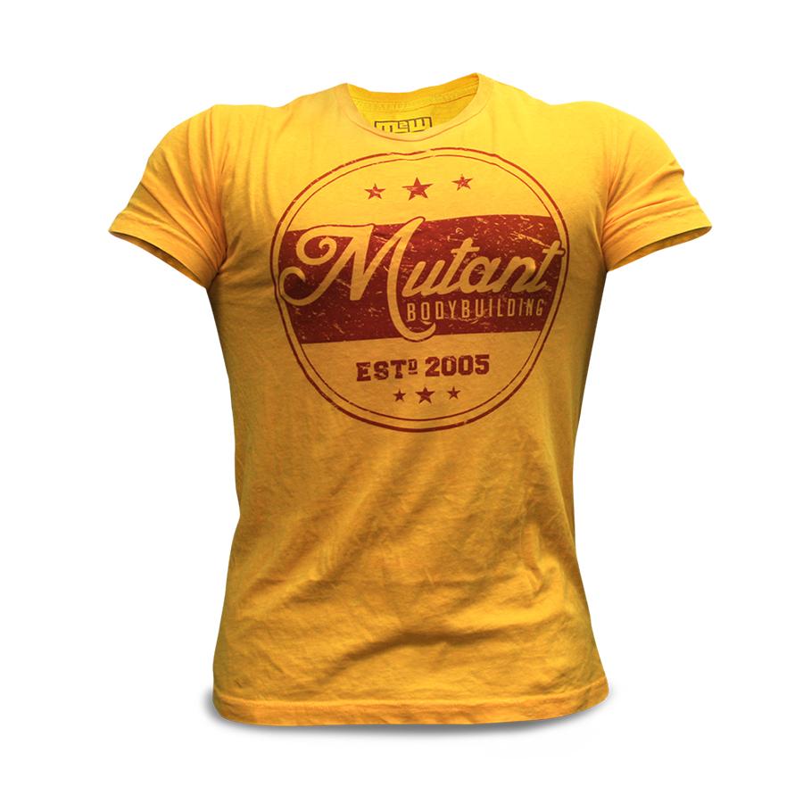 Mutant T-Shirt – Vintage Bodybuilding (Yellow)