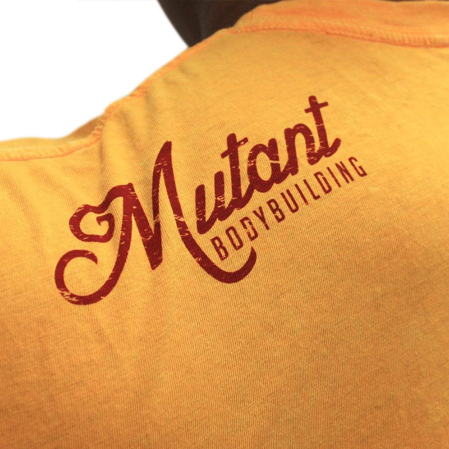mutant tshirt � vintage bodybuilding yellow