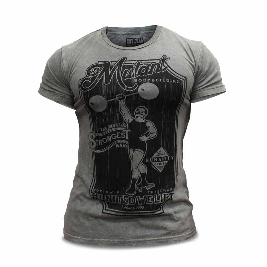 Mutant T-Shirt – Vintage Bodybuilding (Grey)