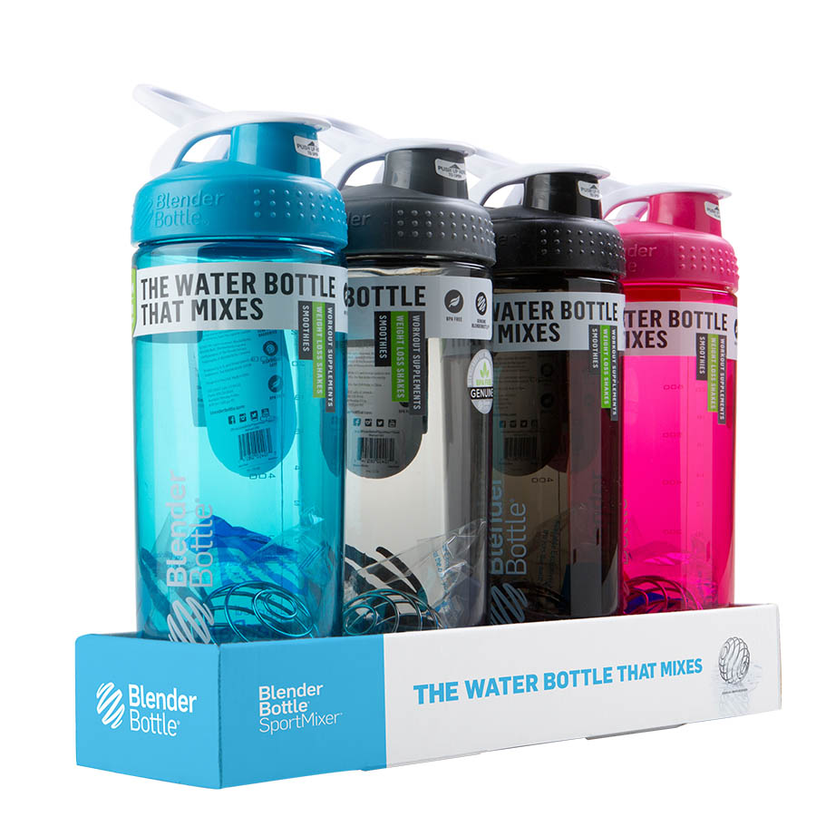 Blender Bottle SportMixer Sleek 4 Pack (825ml)