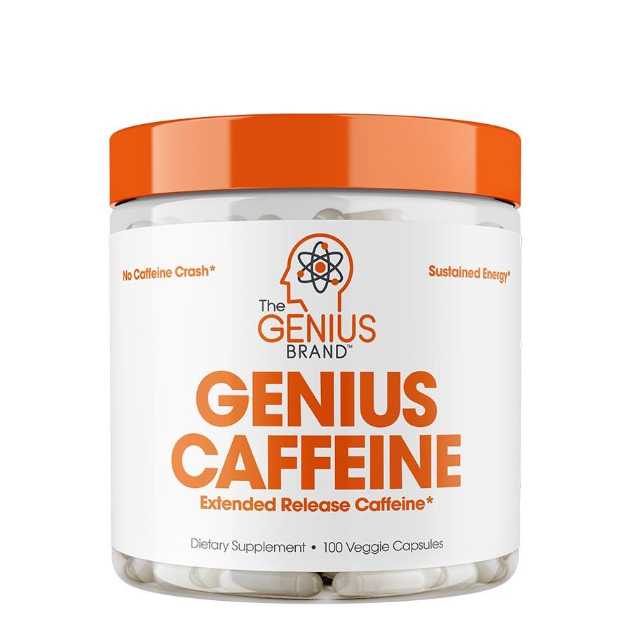The Genius Brand Caffeine (100 Serve) 100 Veggie Capsules