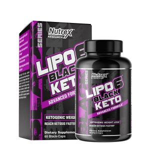 NUTREX RESEARCH LIPO6 BLACK KETO (30 Serve) 60 Capsules