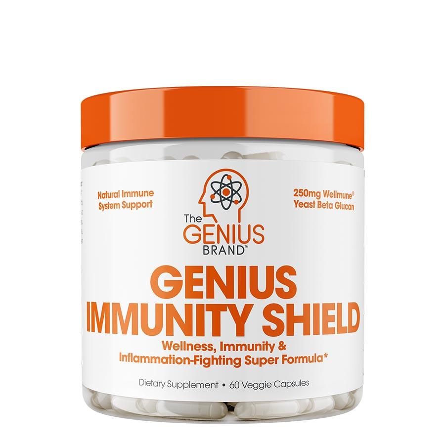 The Genius Brand Immunity Shield (30 Serve) 60 Veggie Capsules