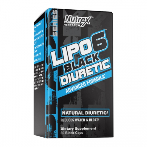 Nutrex Research Lipo 6 Black Diuretic (20 serve) 80 Caps