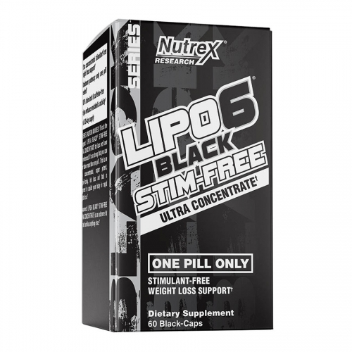 Nutrex Research Lipo 6 Black Stim-Free (60 serve) 60 Caps