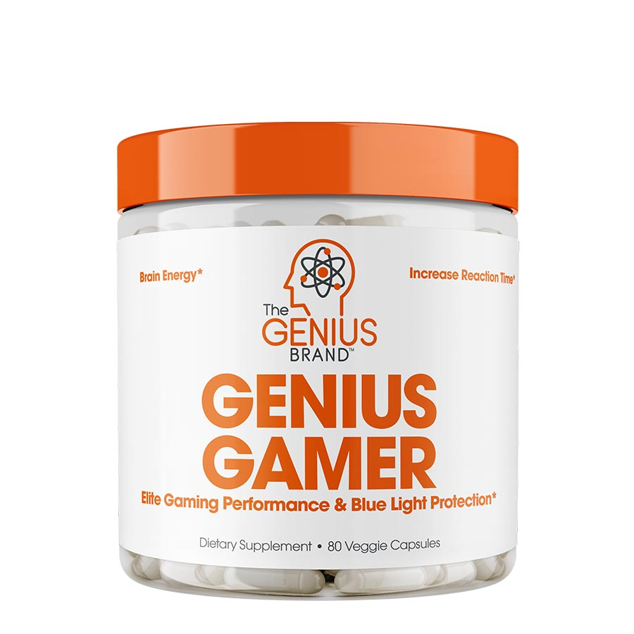 The Genius Brand Genius Gamer (80 Serve) 80 Veggie Capsules