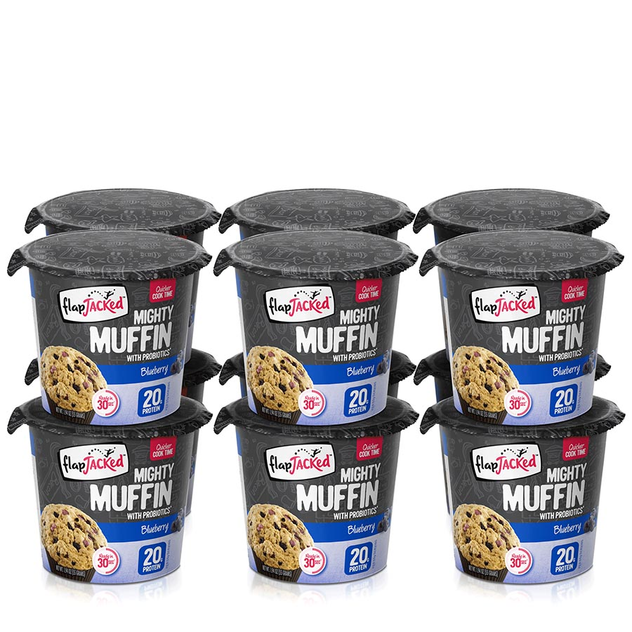 FlapJacked Mighty Muffin (55g) 12 Pack – Blueberry –