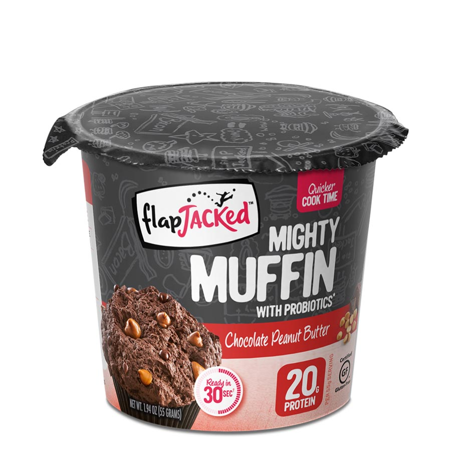FlapJacked Mighty Muffin (55g) 12 Pack – Chocolate Peanut Butter –
