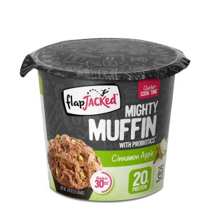 FlapJacked Mighty Muffin (55g) 12 Pack Cinnamon Apple