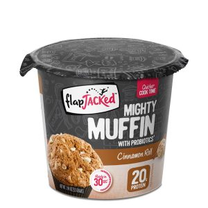 FlapJacked Mighty Muffin (55g) 12 Pack Cinnamon Roll
