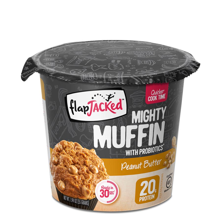 FlapJacked Mighty Muffin (55g) 12 Pack – Peanut Butter –
